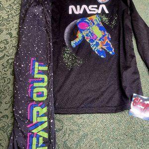 Nwt 10 12 boy girls NASA glows astronaut pajamas